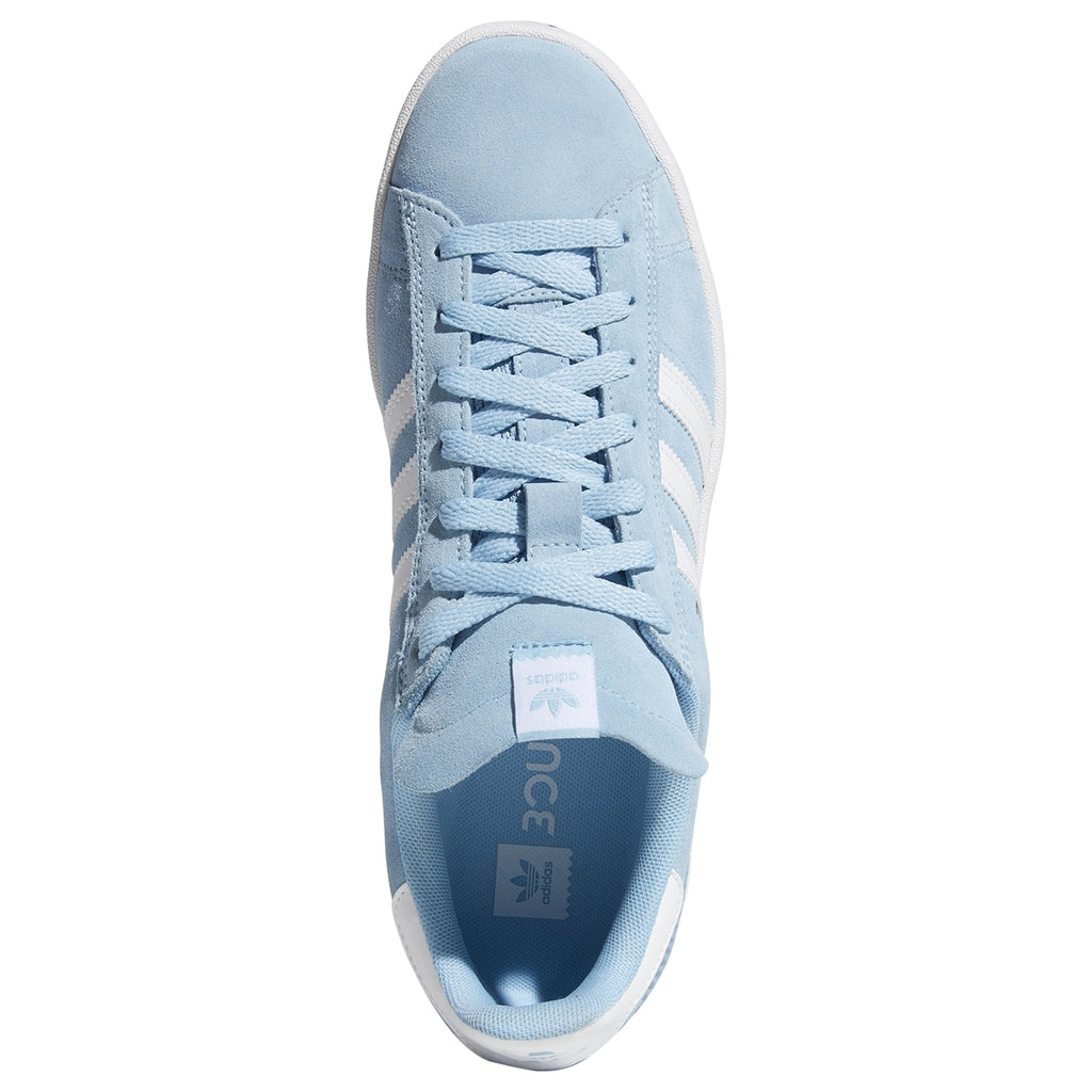 Adidas Campus ADV Shoes in Clear Blue / Footwear White / Footwear White - Top