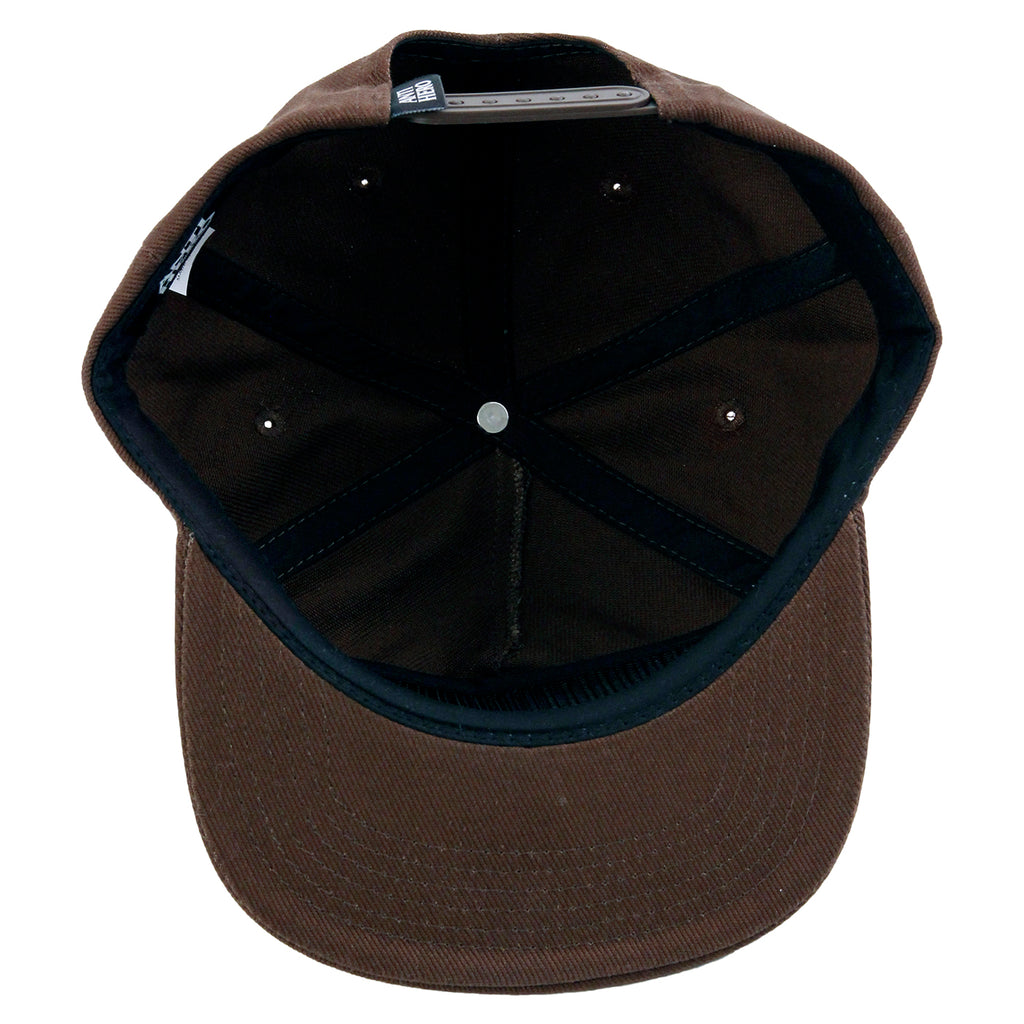 Anti Hero Skateboards Skate Co Patch Snapback Cap in Brown - Inside