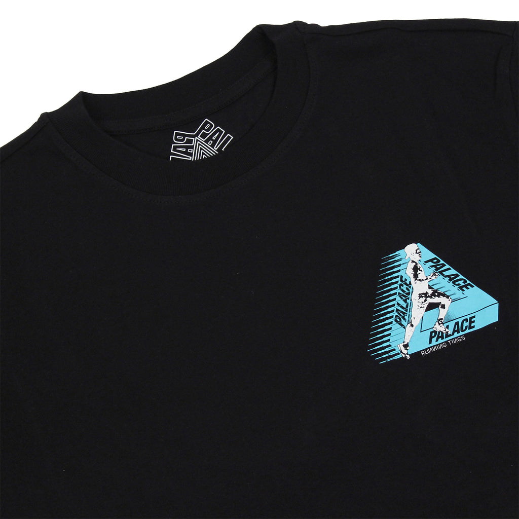 Palace Running Tings T Shirt in Black - Detail