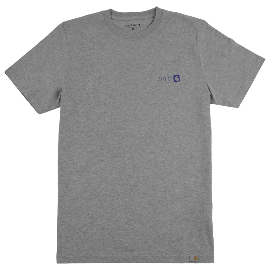 Carhartt x Isle Modular T Shirt in Grey Heather - Front