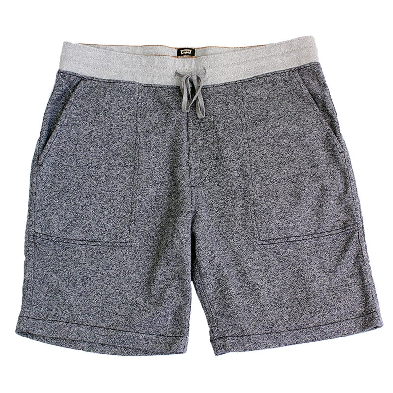 Levi's Skateboarding Collection Sweat Shorts in Patriot Blue Heather - Open