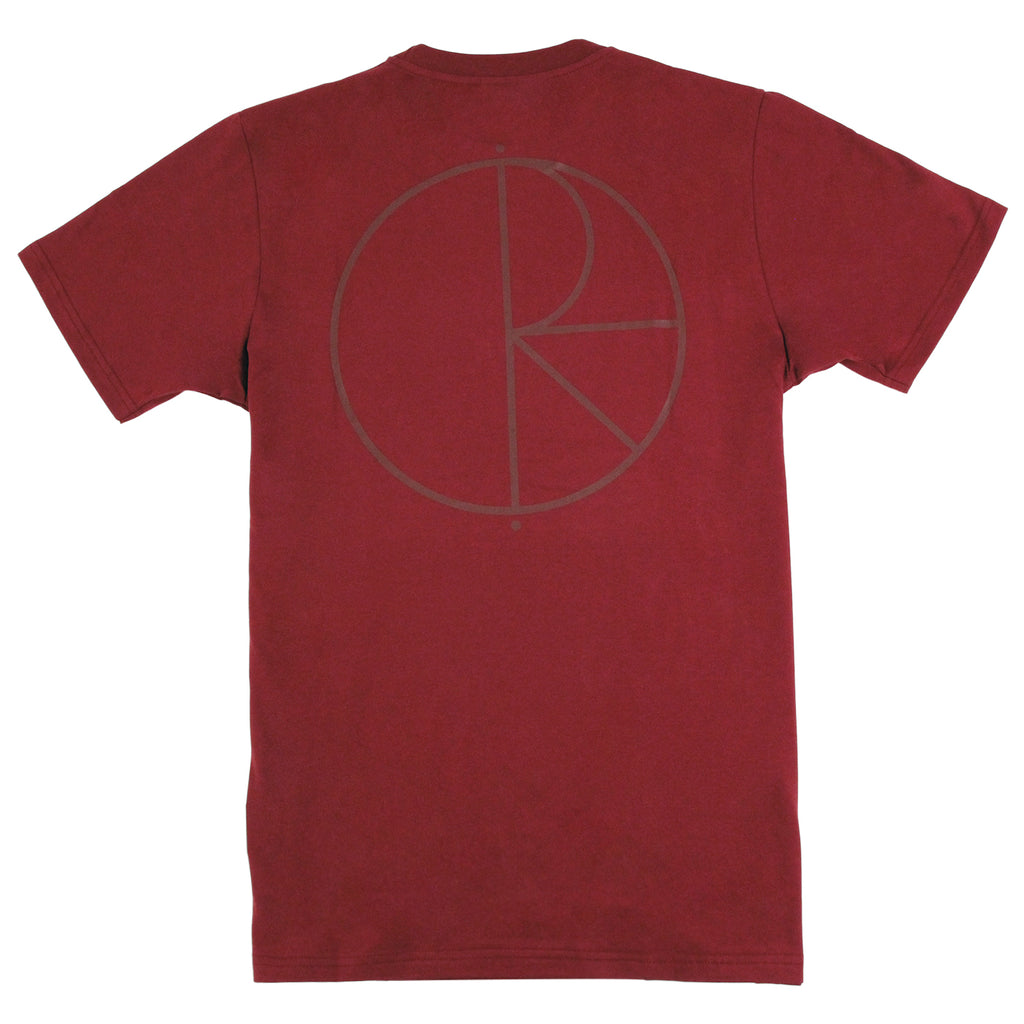 Polar Skate Co Stroke Logo T Shirt in Burgundy / Burgundy
