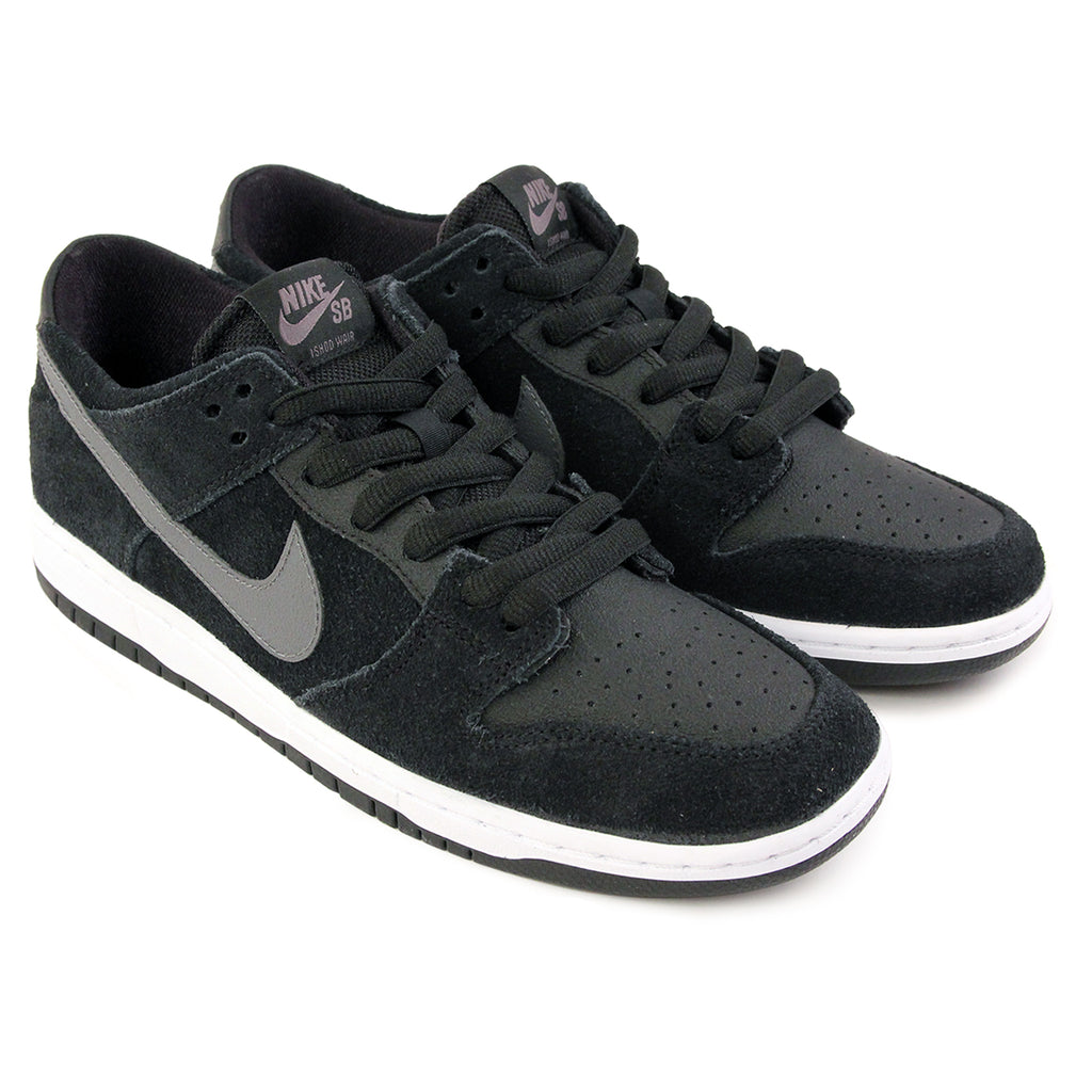 Nike SB Dunk Low Pro Ishod Wair Shoes in Black / Light Graphite / White - Paired