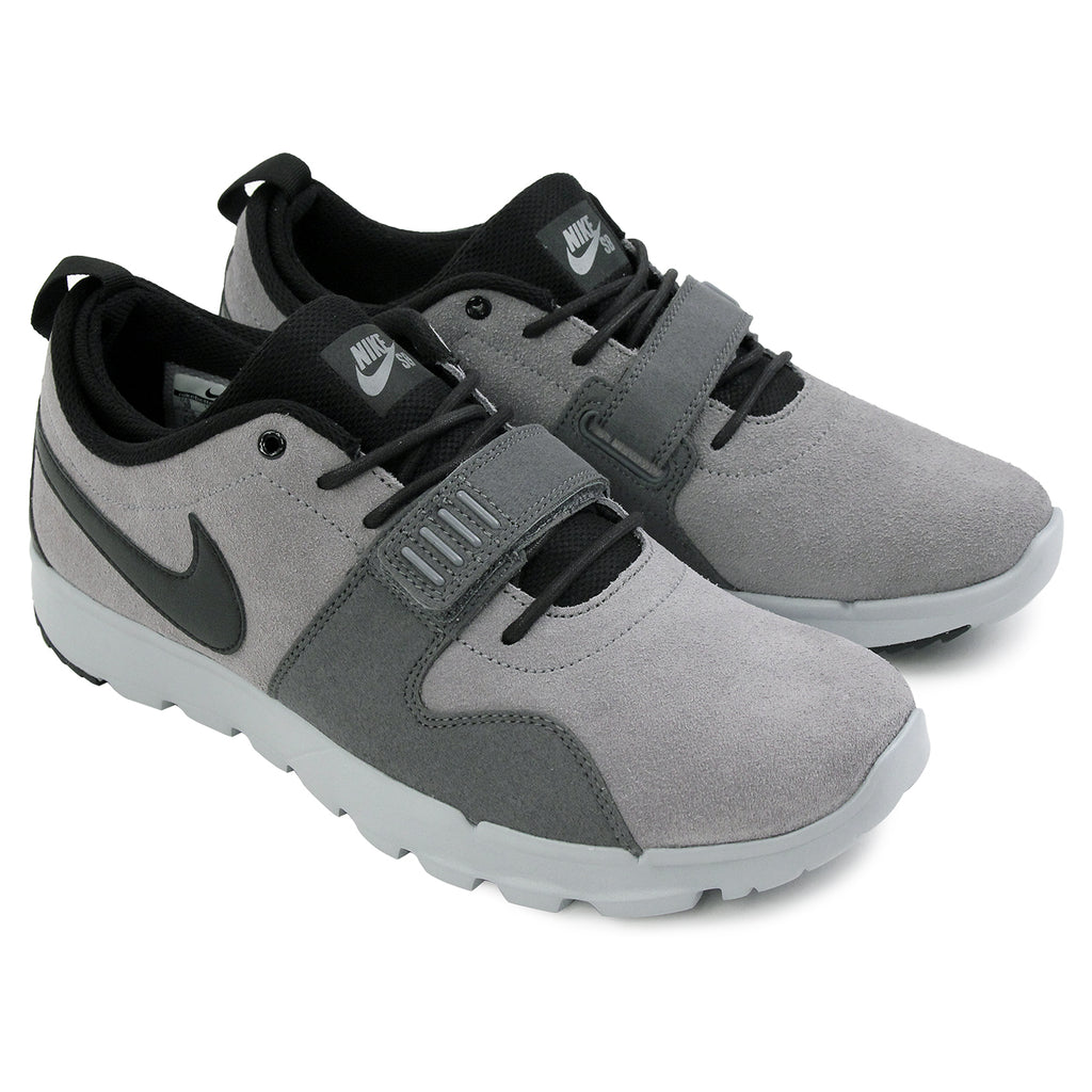 Nike SB Trainerendor L Shoes in Cool Grey / Black / Dark Grey / Wolf Grey - Paired
