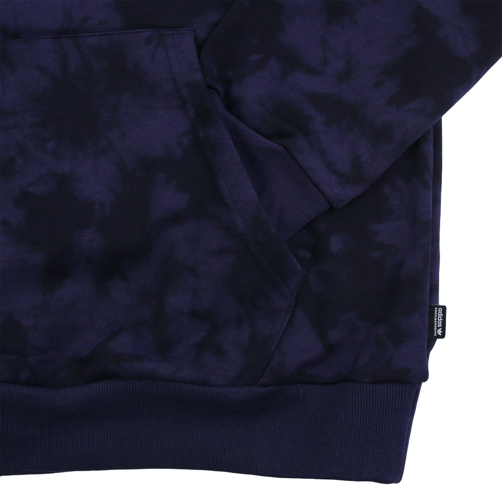 Adidas Skateboarding Clima 2.0 Crystal Wash Hoodie in Night Indigo / Black - Pocket