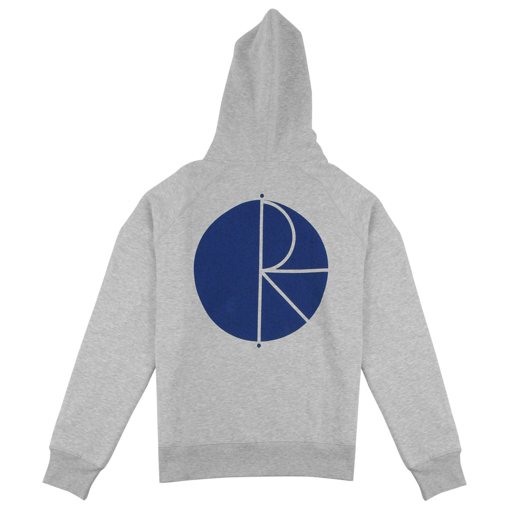 Polar Skate Co Fill Logo Hoodie in Sports Grey / Navy