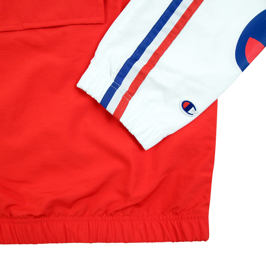 Champion Reverse Weave Half Zip Track Top in Red / Blue / White - Cuff