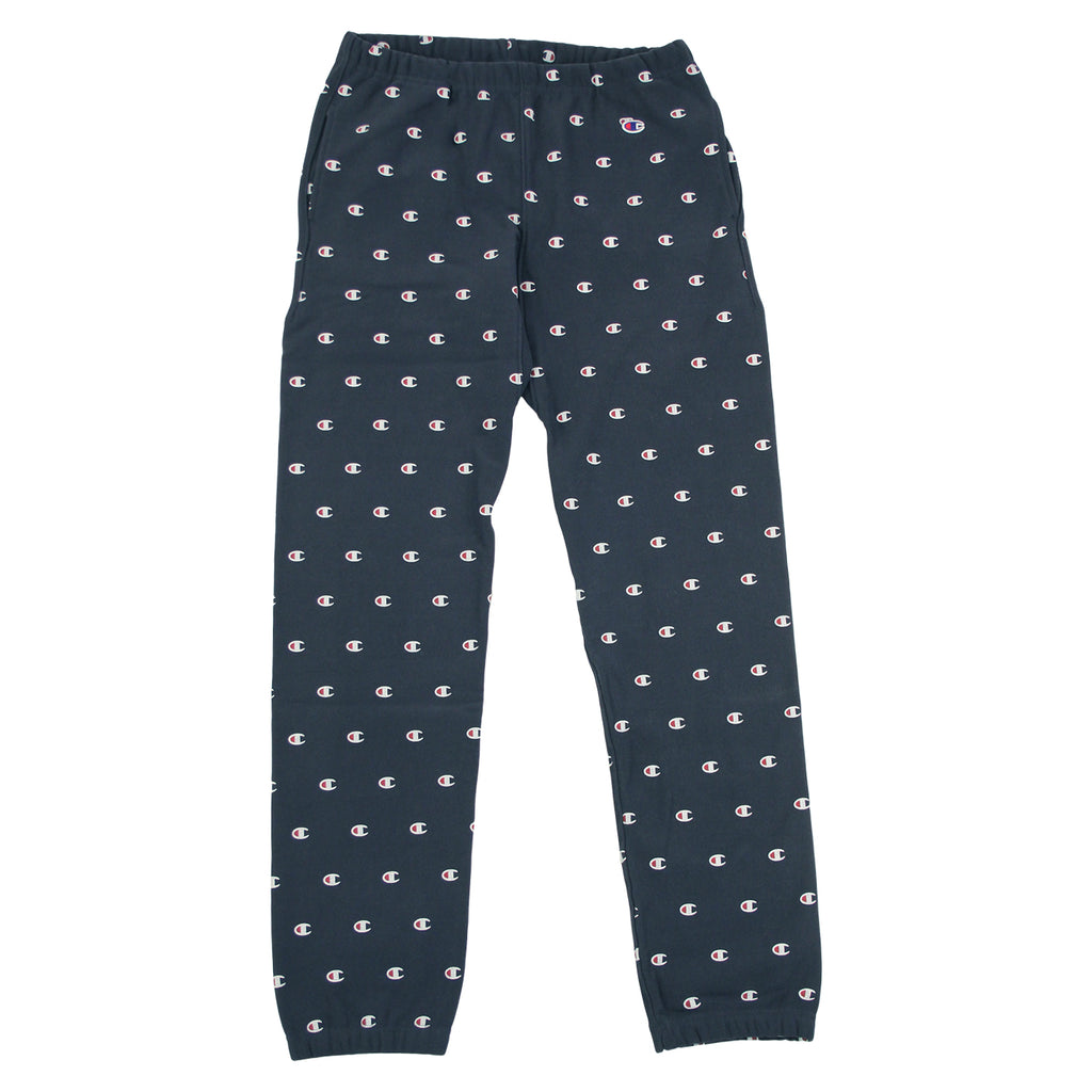 Champion All Over Elastic Cuff Pant in Navy - Open