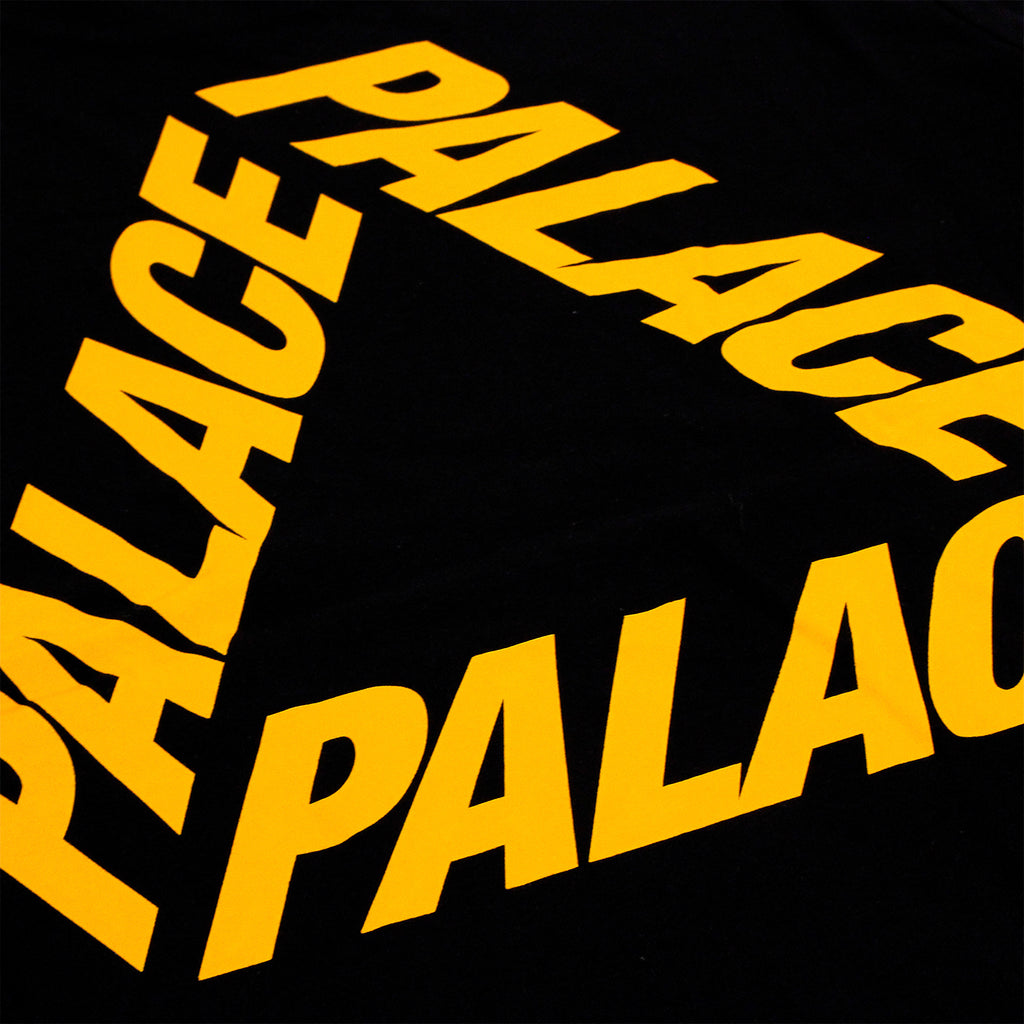 Palace P 3 L/S T Shirt in Black / Yellow - Back print
