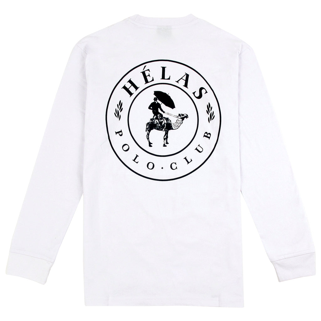 Helas Polo Club L/S T Shirt in White