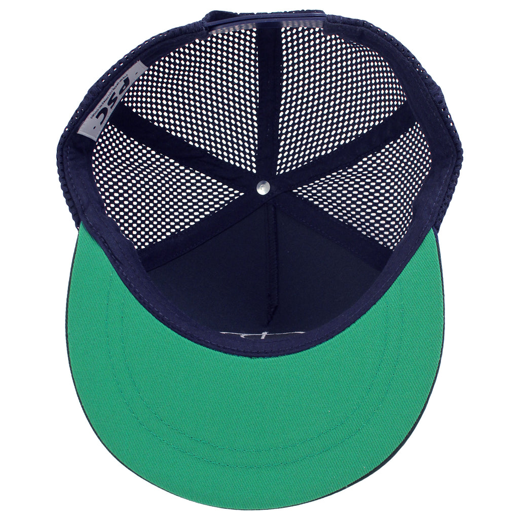 Polar Skate Co Trucker Snapback Hat in Navy / Green - Inside