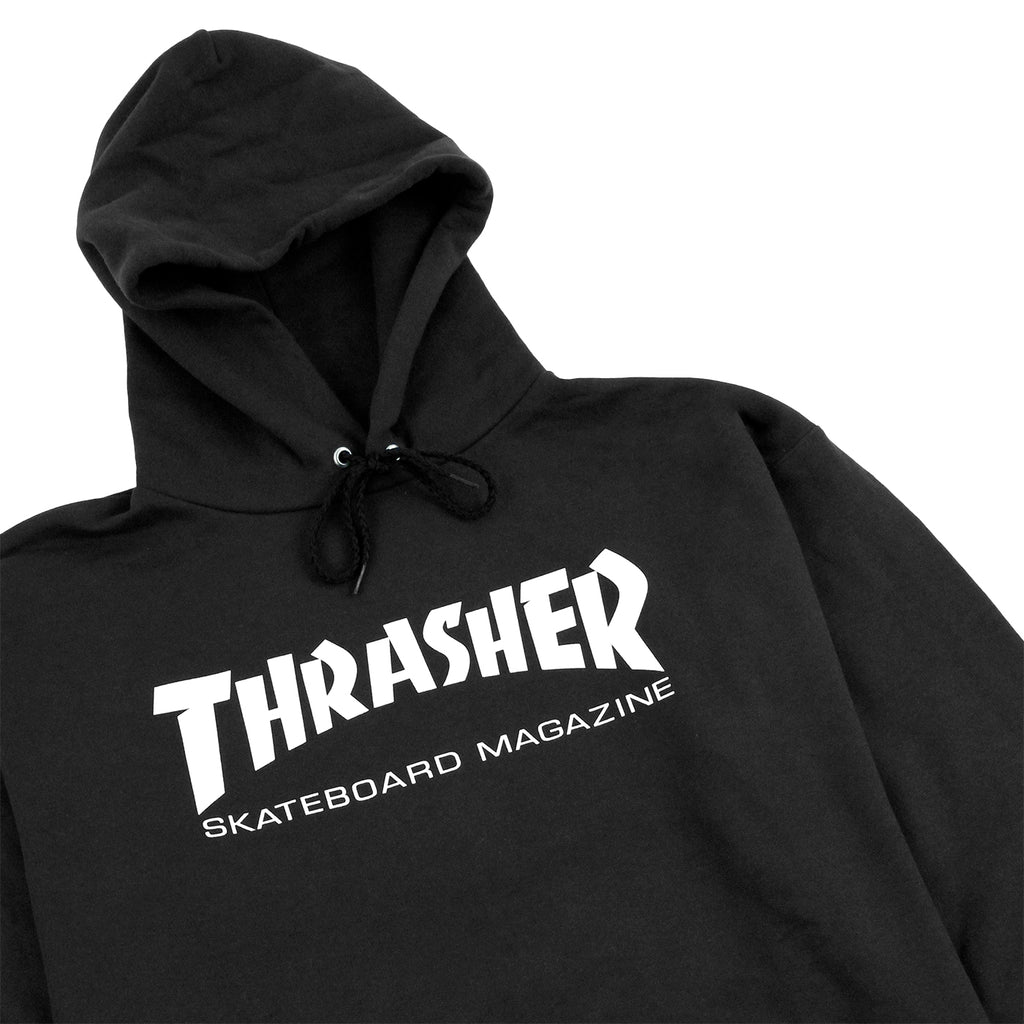 Thrasher Skate Mag Logo Hoodie in Black - Detail