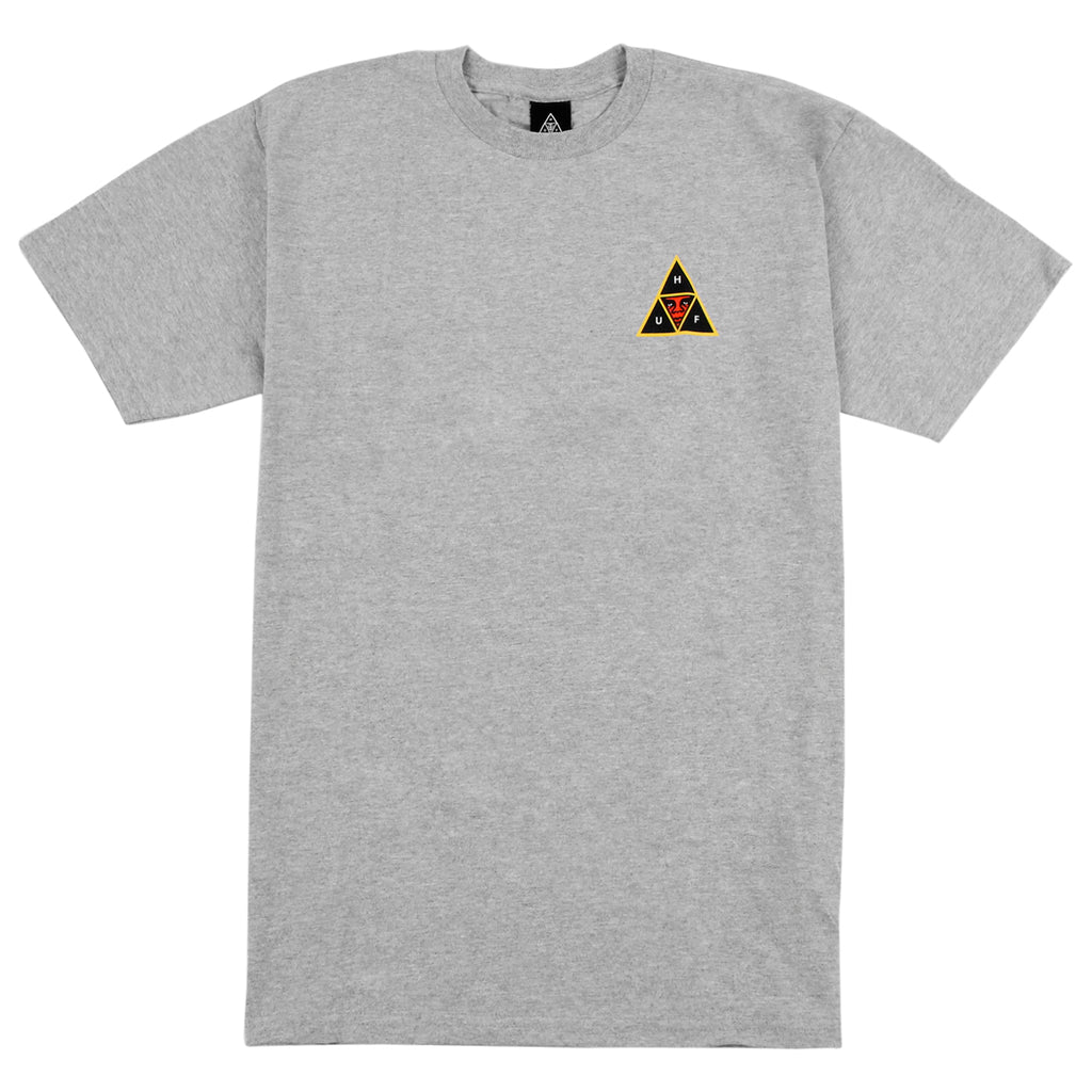 HUF x Obey Icon Face T Shirt in Heather Grey
