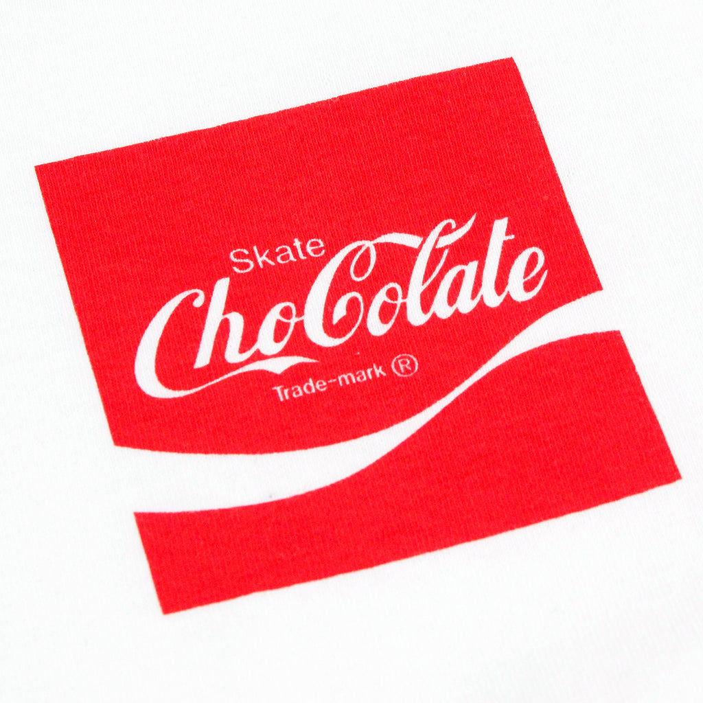 Chocolate Skateboards Cola L/S T Shirt in White - Print