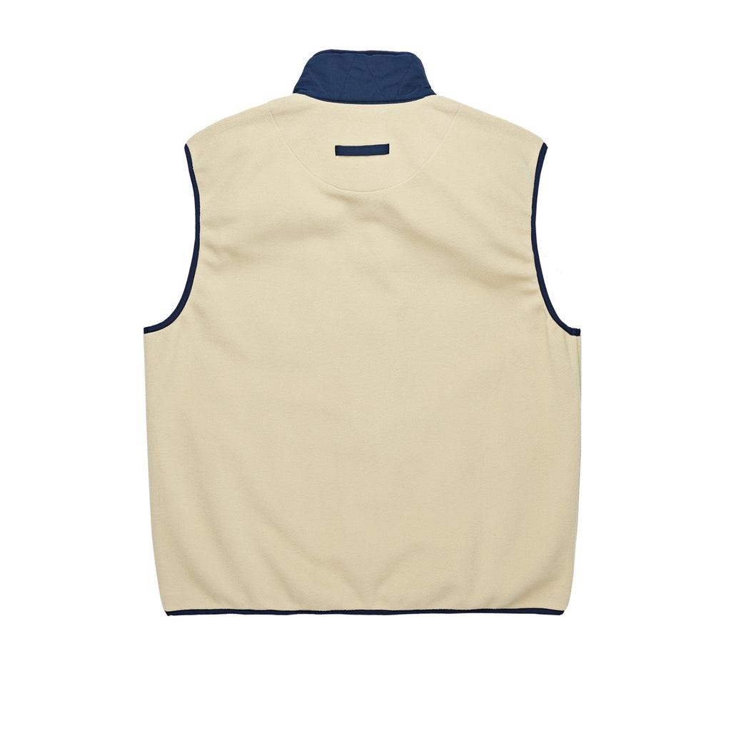 Polar Skate Co Stenstrom Fleece Vest in Sand / Navy - Back