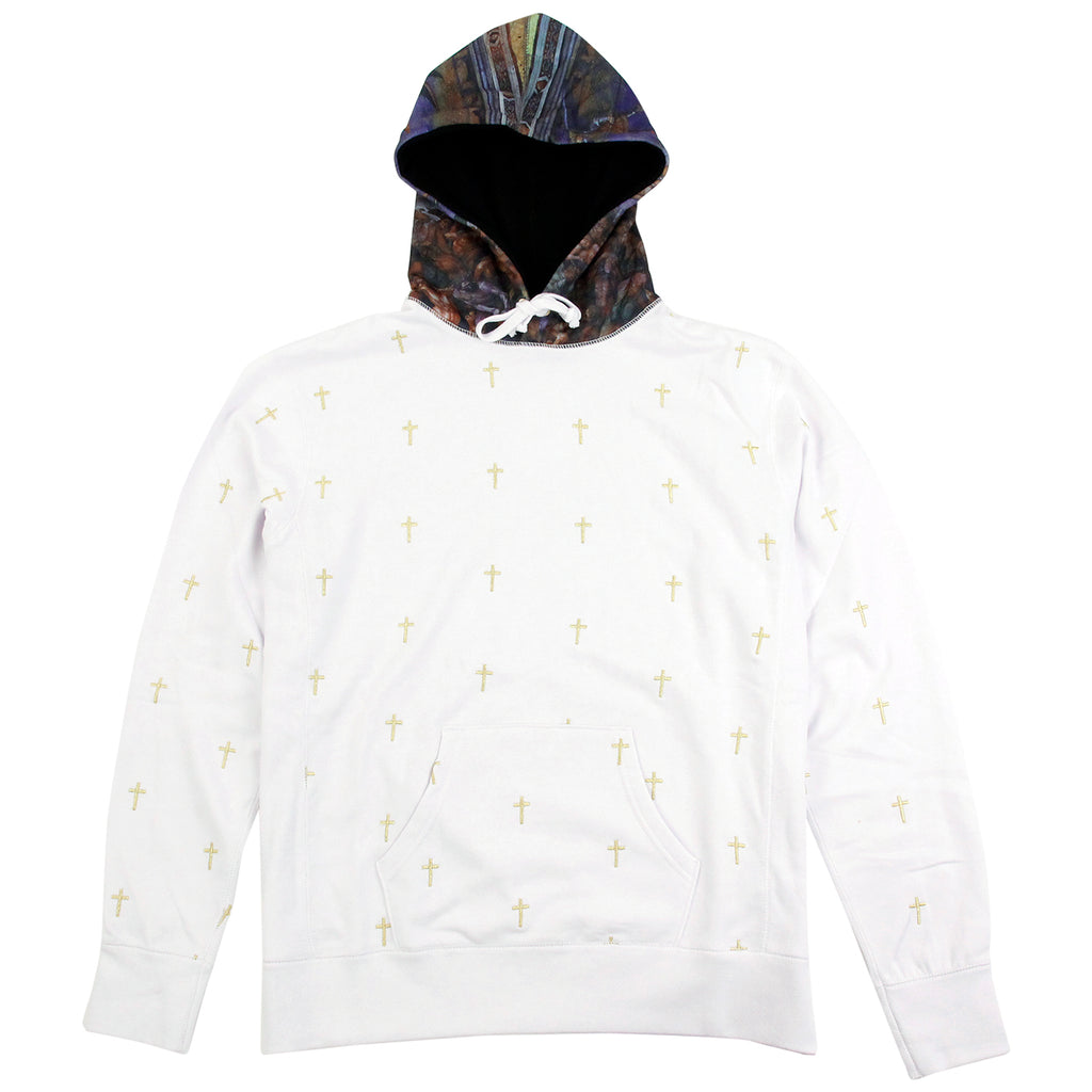 Fucking Awesome Crosses Hoodie in White