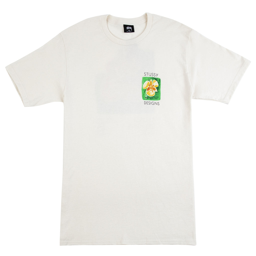 Stussy Hibiscus T Shirt in Natural - Front