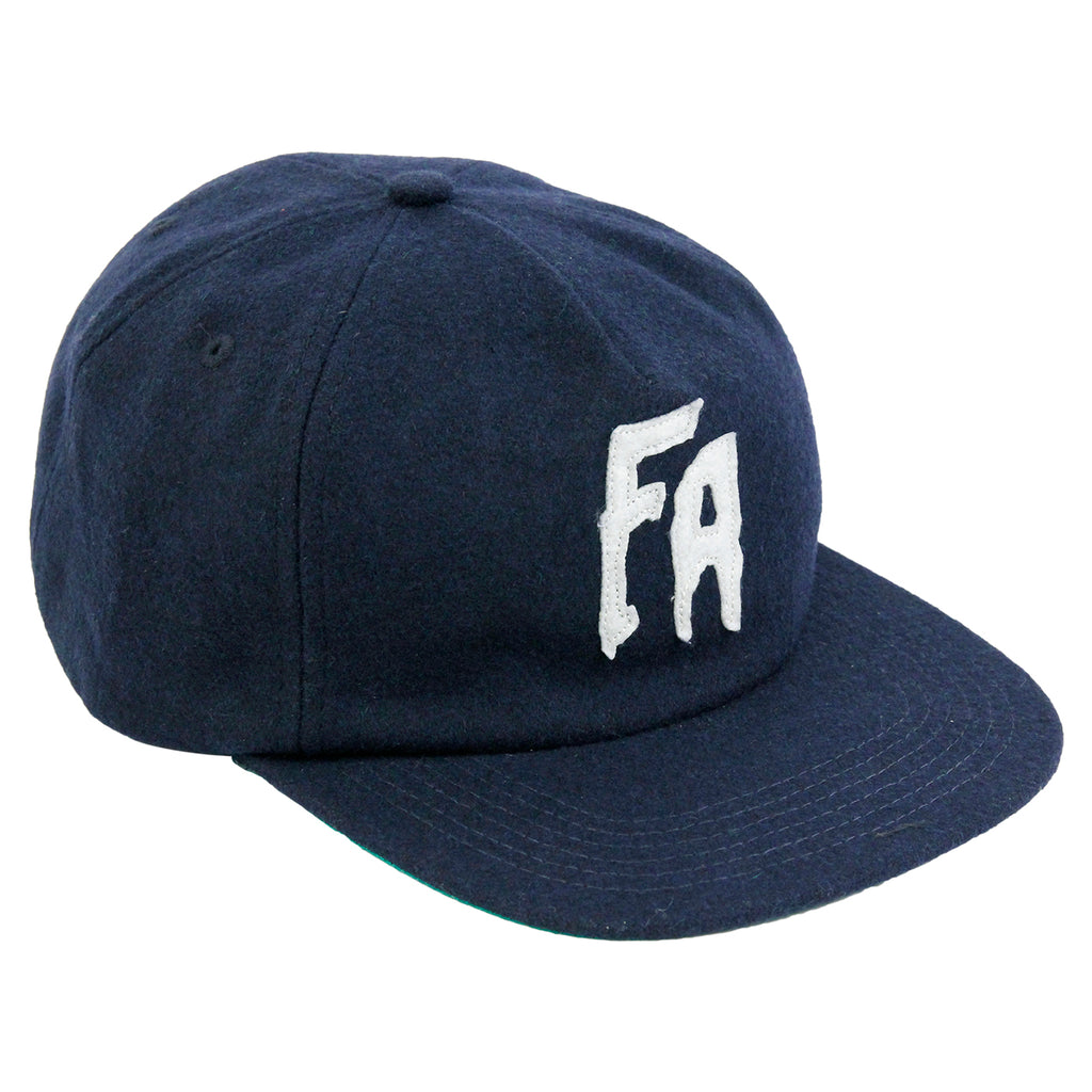 Fucking Awesome Classic FA Logo Wool Snapback Cap in Navy