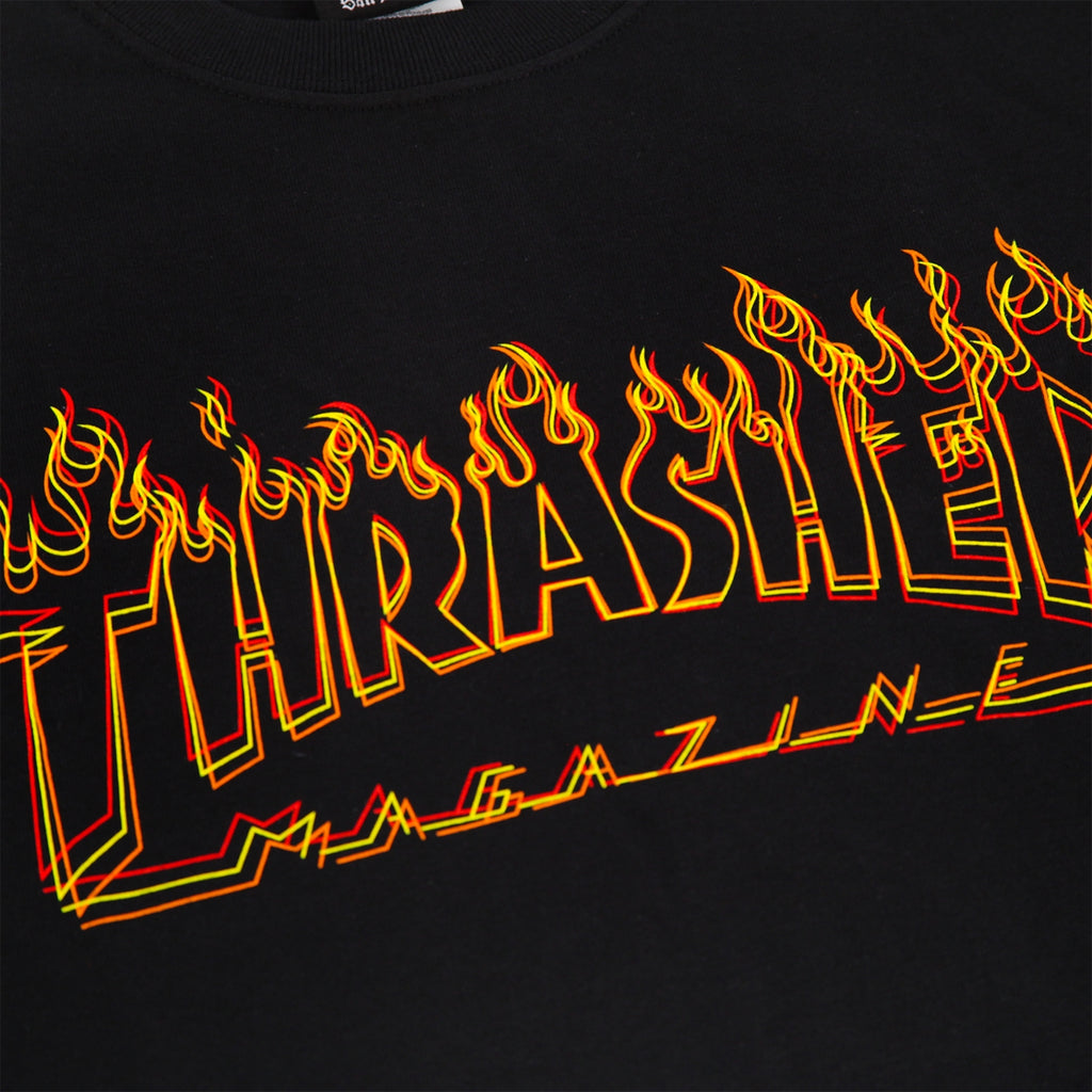 Thrasher Richter T Shirt in Black - Print