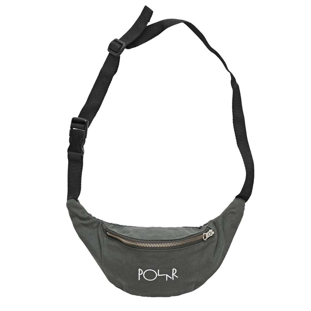 Polar Skate Co Script Logo Hip Bag in Grey Green