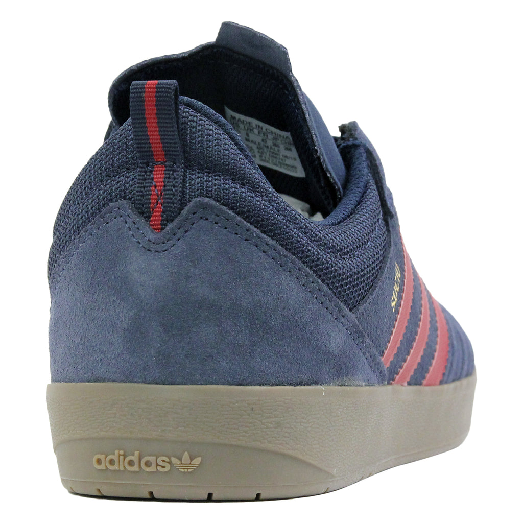 Adidas Skateboarding Suciu ADV Shoes in Collegiate Navy / Collegiate Burgundy / Gum - Heel
