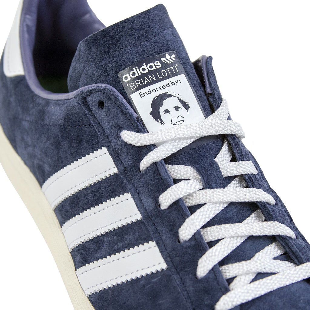 Adidas Campus 80s RYR Shoes in Collegiate Navy / Footwear White / Chalk White - Detail