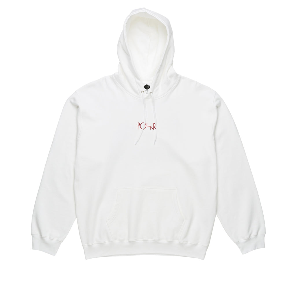 Polar Skate Co Fountain Hoodie in White - Front