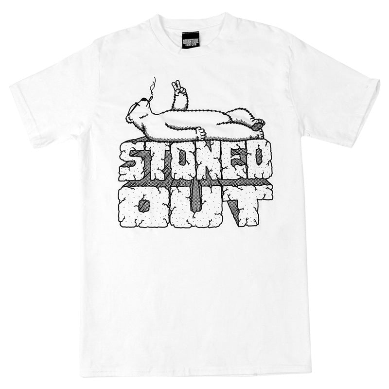 Signature Clothing Stoned Out T Shirt in White