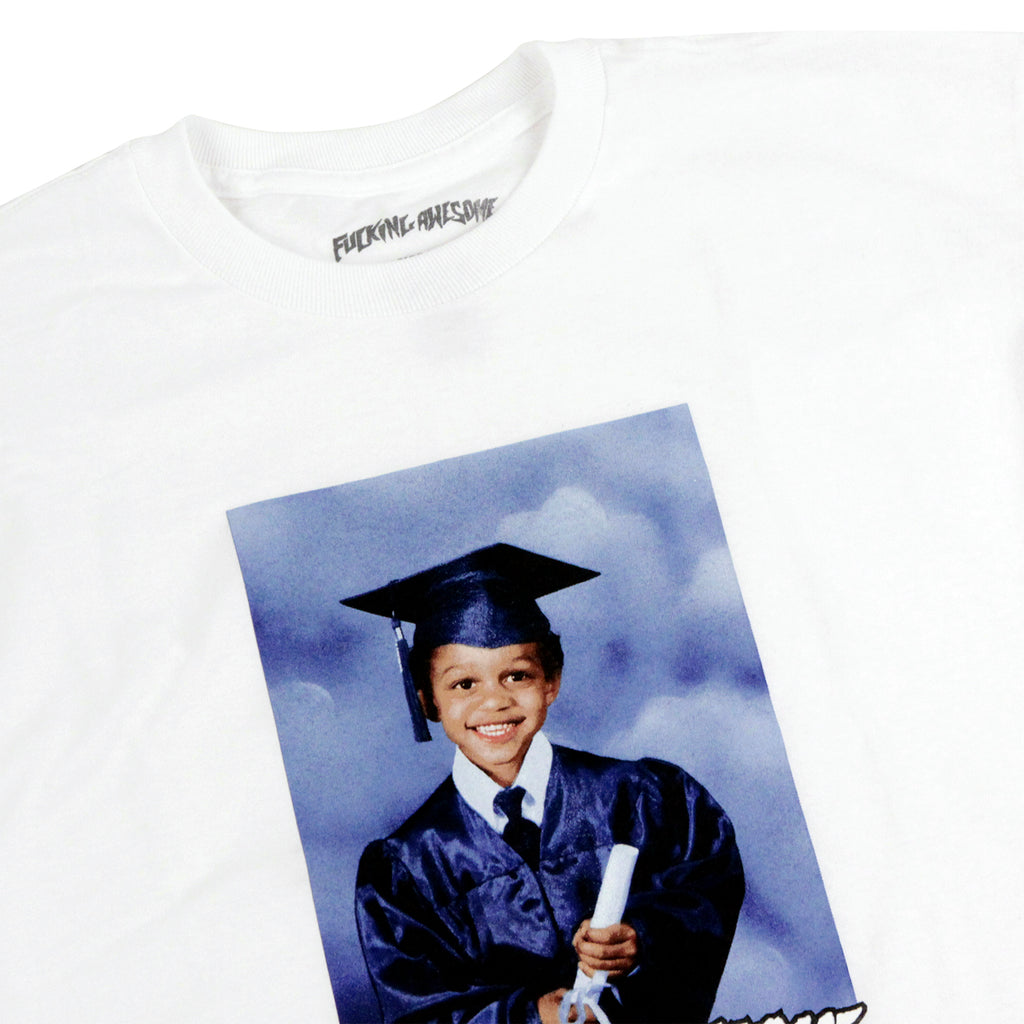 Fucking Awesome Kevin Class Photo T Shirt in White - Detail