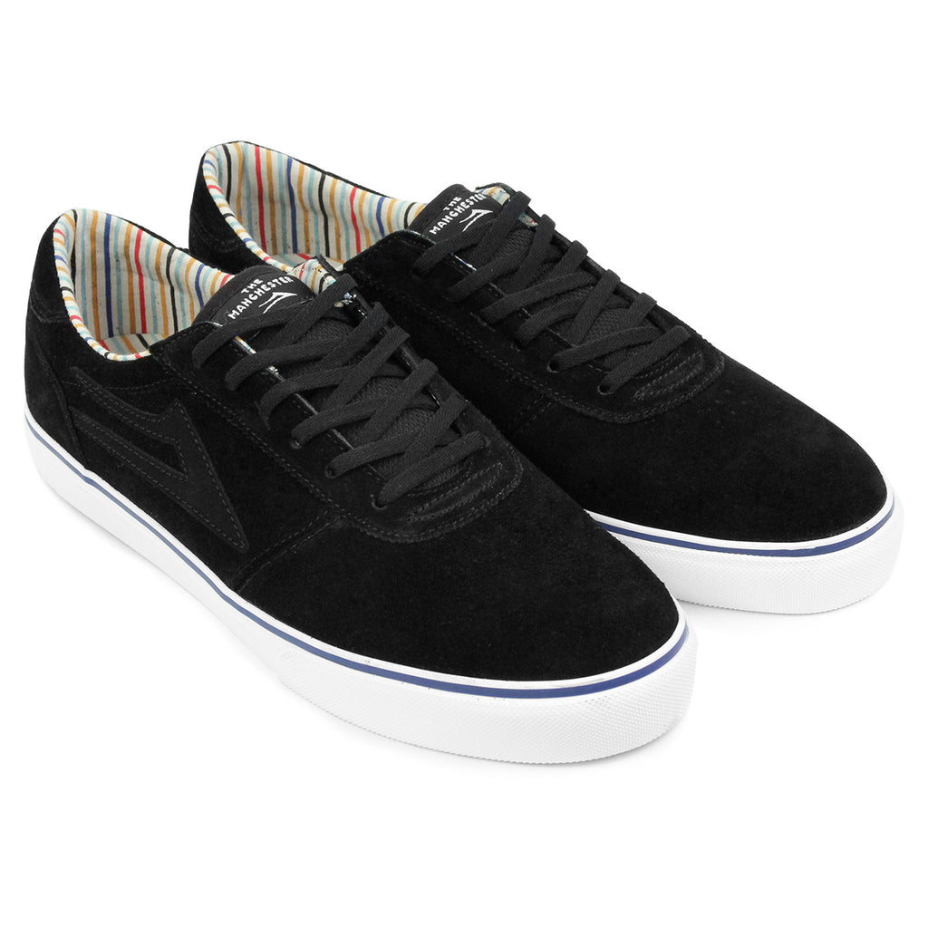 Lakai Manchester Crailtap Suede Shoes in Black/White - Pair