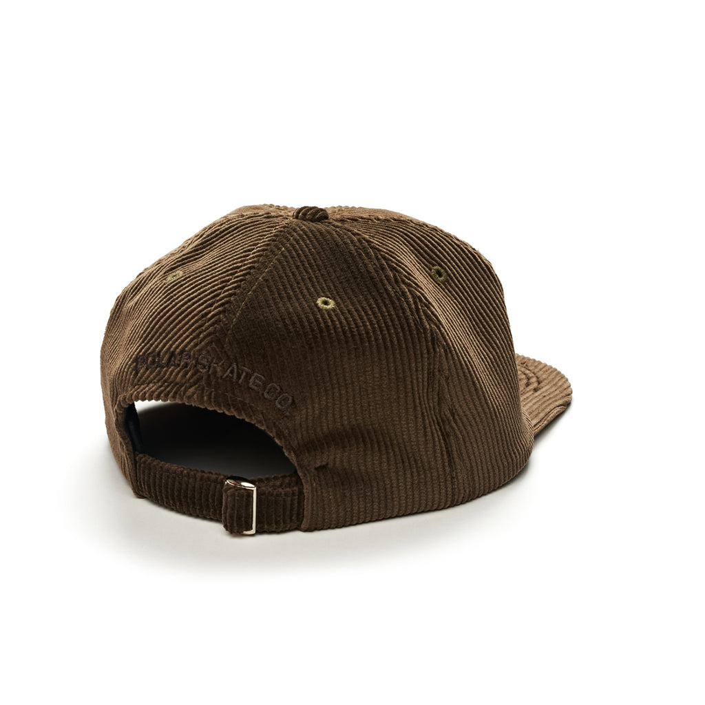 Polar Skate Co Corduroy Cap in Brown - Back