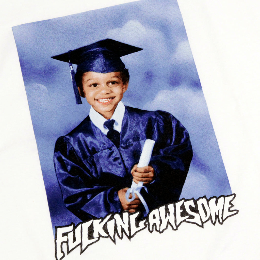 Fucking Awesome Kevin Class Photo T Shirt in White - Print