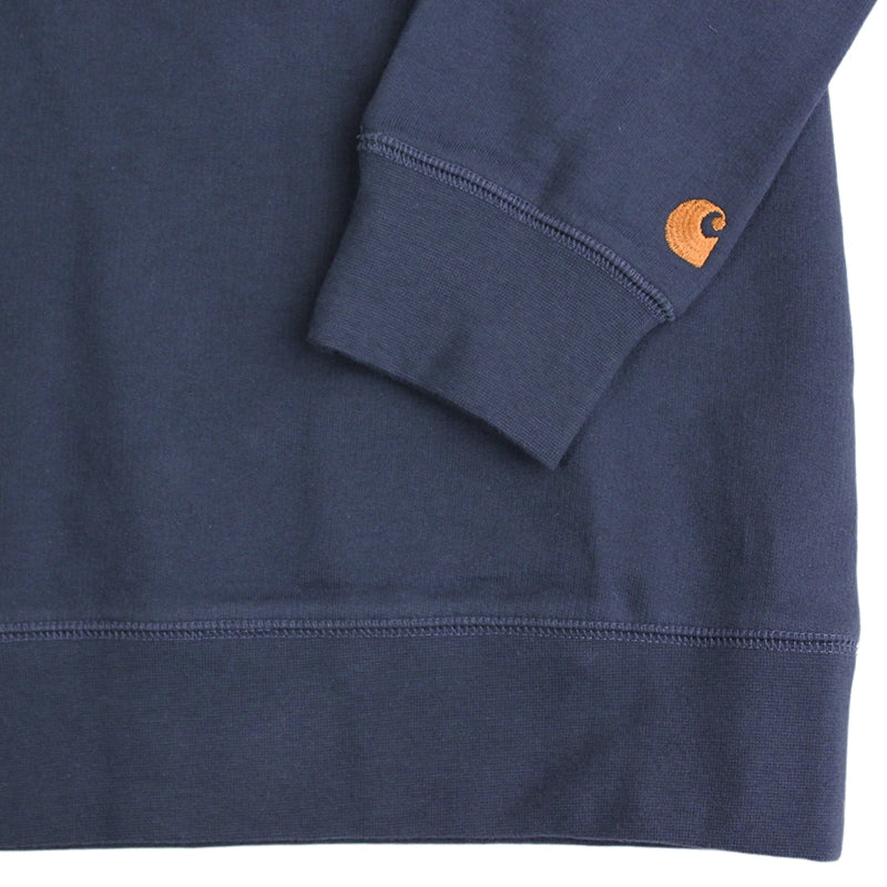 Carhartt WIP Chase Sweat in Blue Penny - Sleeve