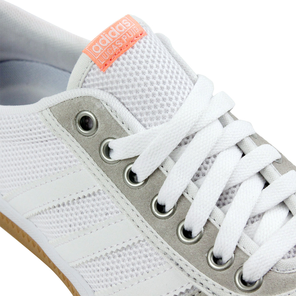Adidas Lucas Premiere ADV Shoes in Crystal White / White / Sun Glow - Detail