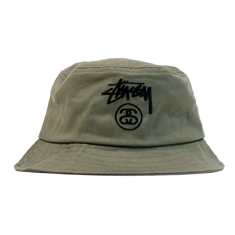 Stussy Stock Lock Bucket Hat in Olive