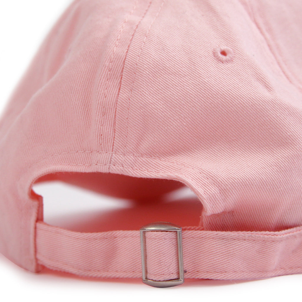 "Bored of Southsea ""Southsea"" 6 Panel Dad Cap in Pastel Pink - Back"