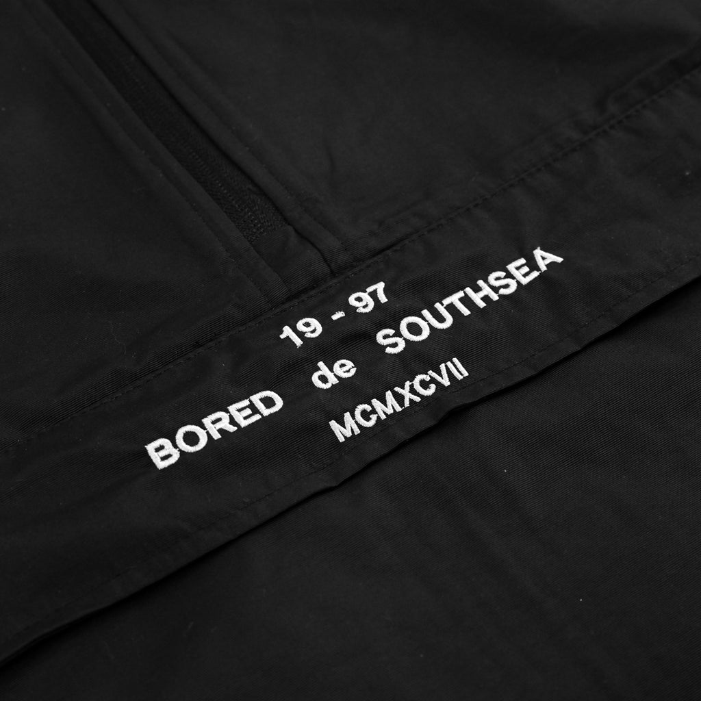 Bored of Southsea BDG Windbreaker Anorak Jacket in Black - Embroidery