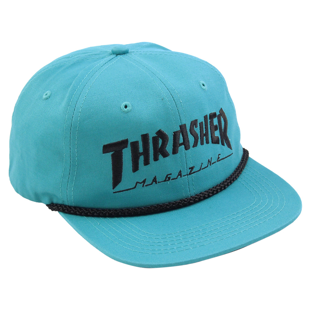 Thrasher Rope Snapback Cap in Teal / Black