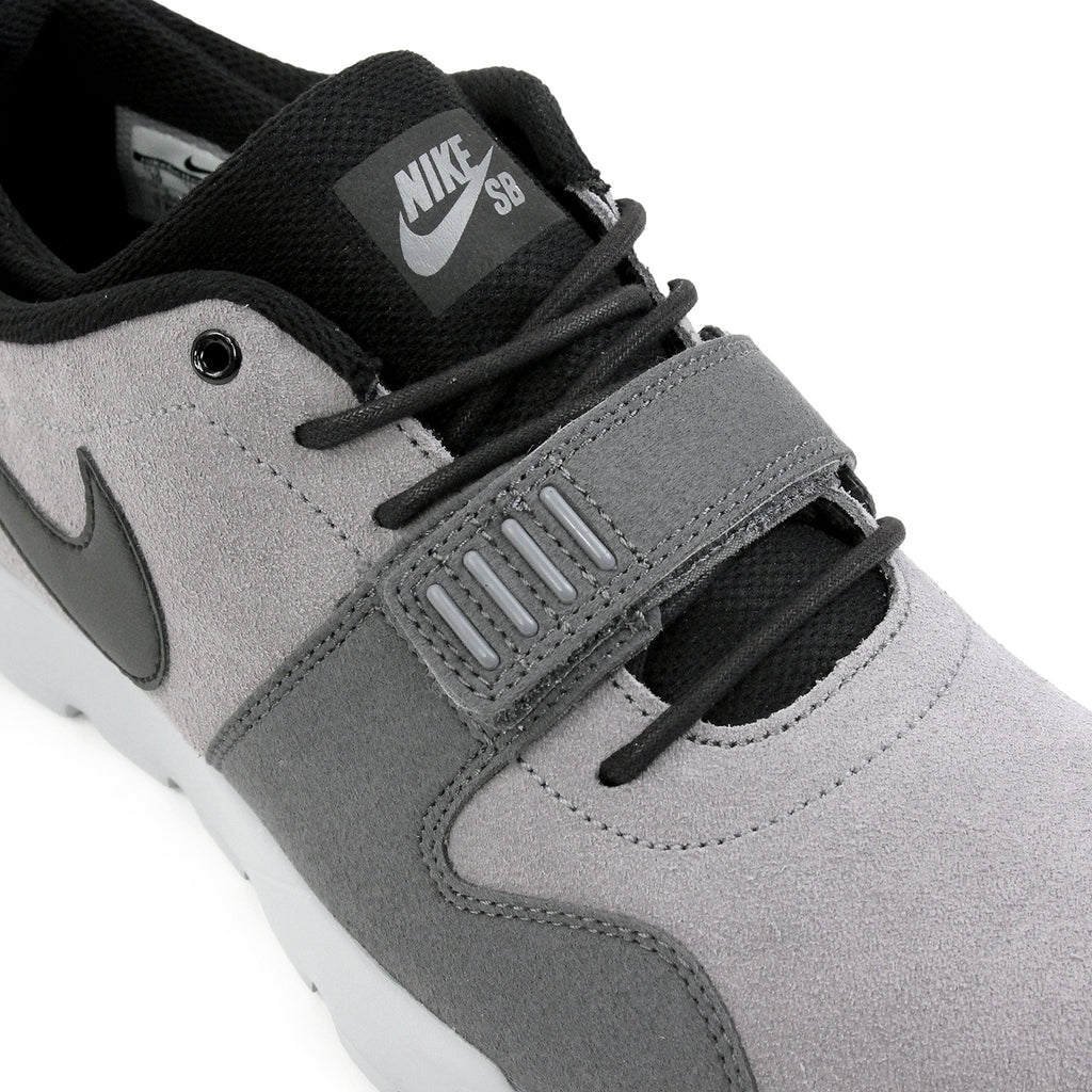 Nike SB Trainerendor L Shoes in Cool Grey / Black / Dark Grey / Wolf Grey - Laces