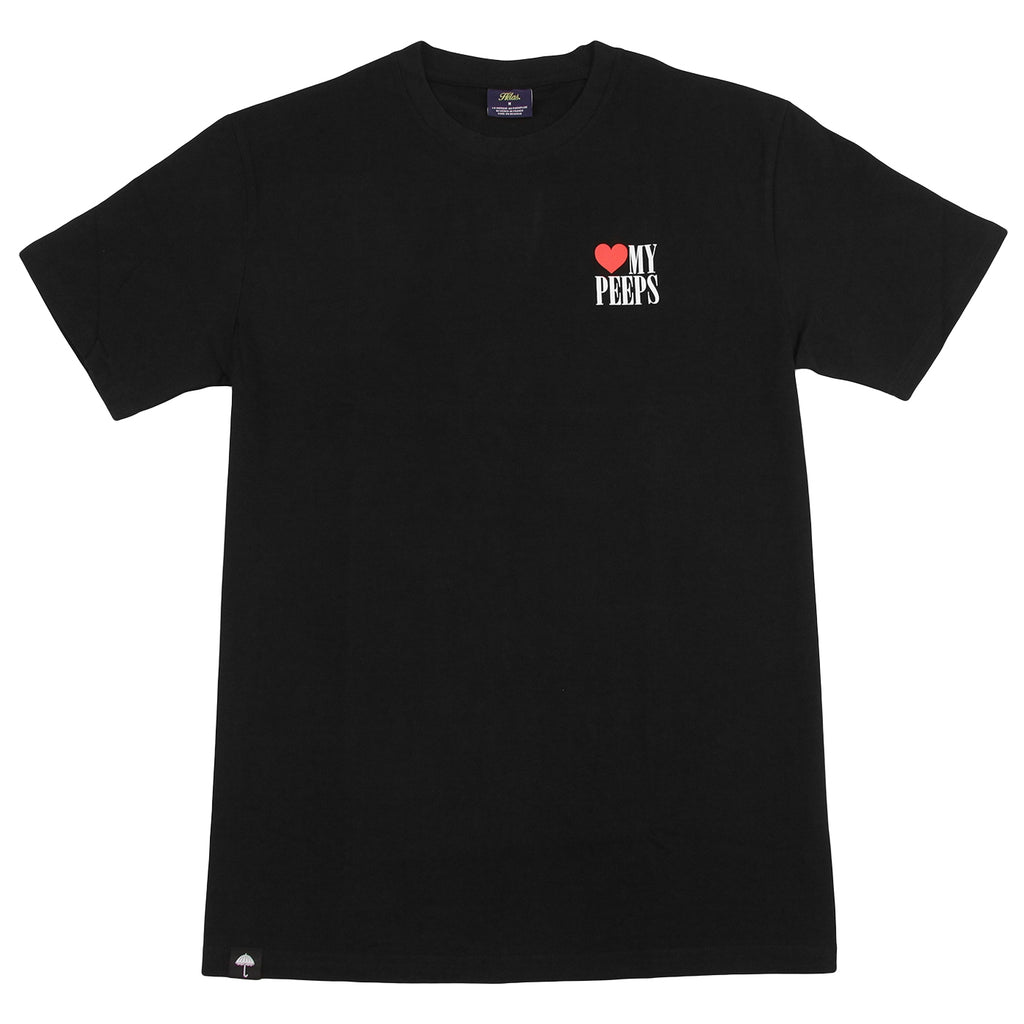 Helas Peeps T Shirt in Black - Front