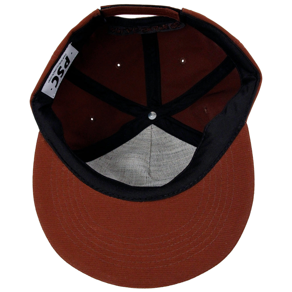 Polar Skate Co Plain Cap in Rust - Inside