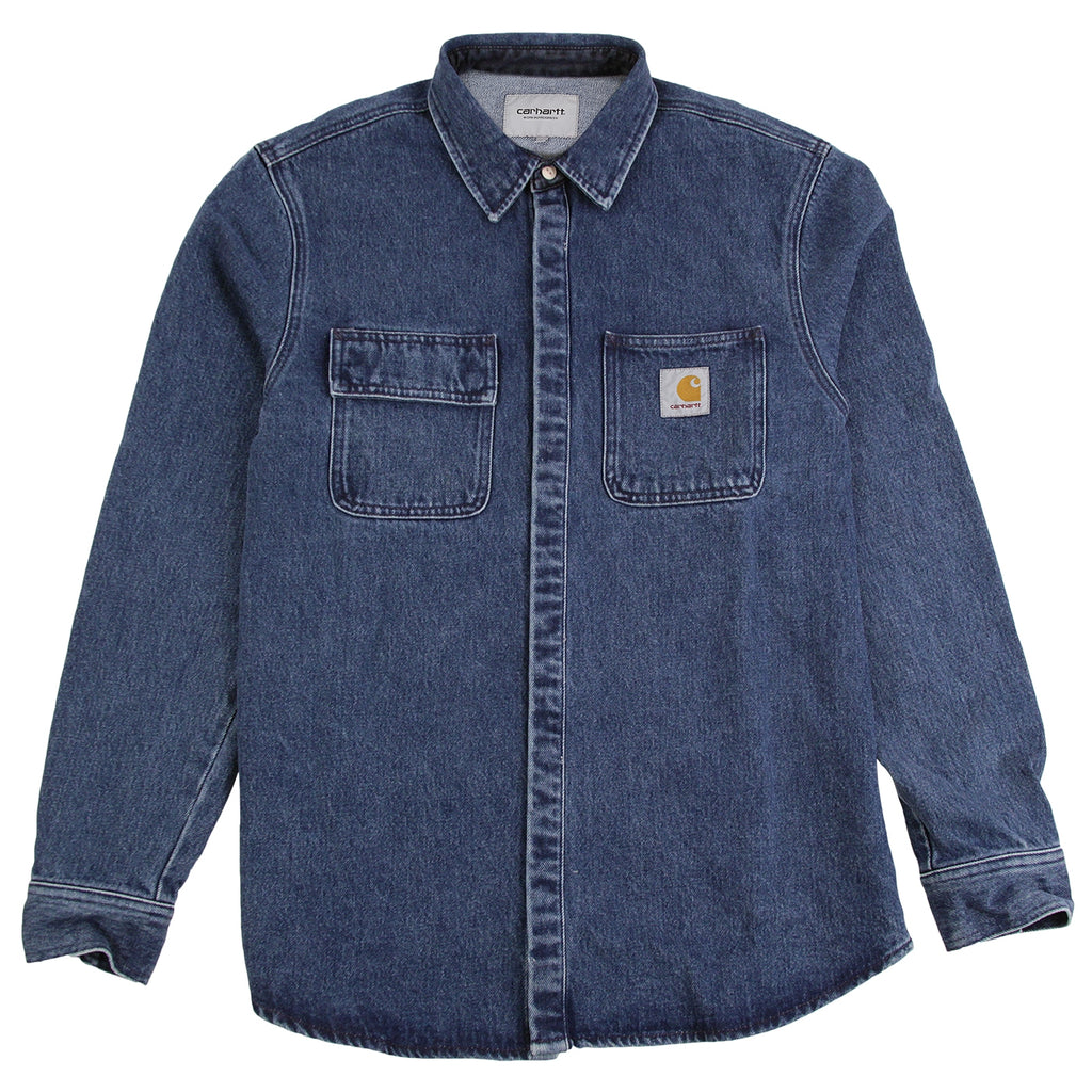 Carhartt Salinac Shirt Jac in Blue Stone Washed
