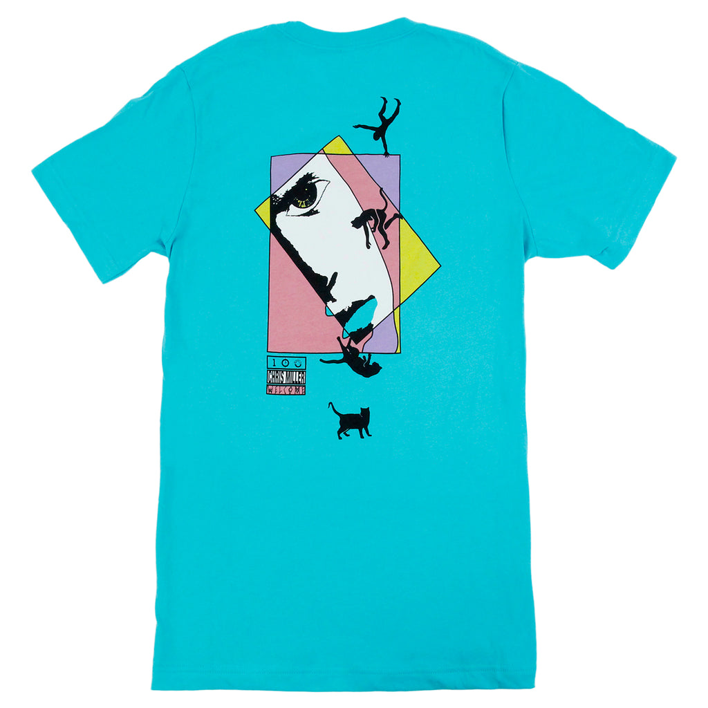 Welcome Skateboards Miller Faces T Shirt in Teal