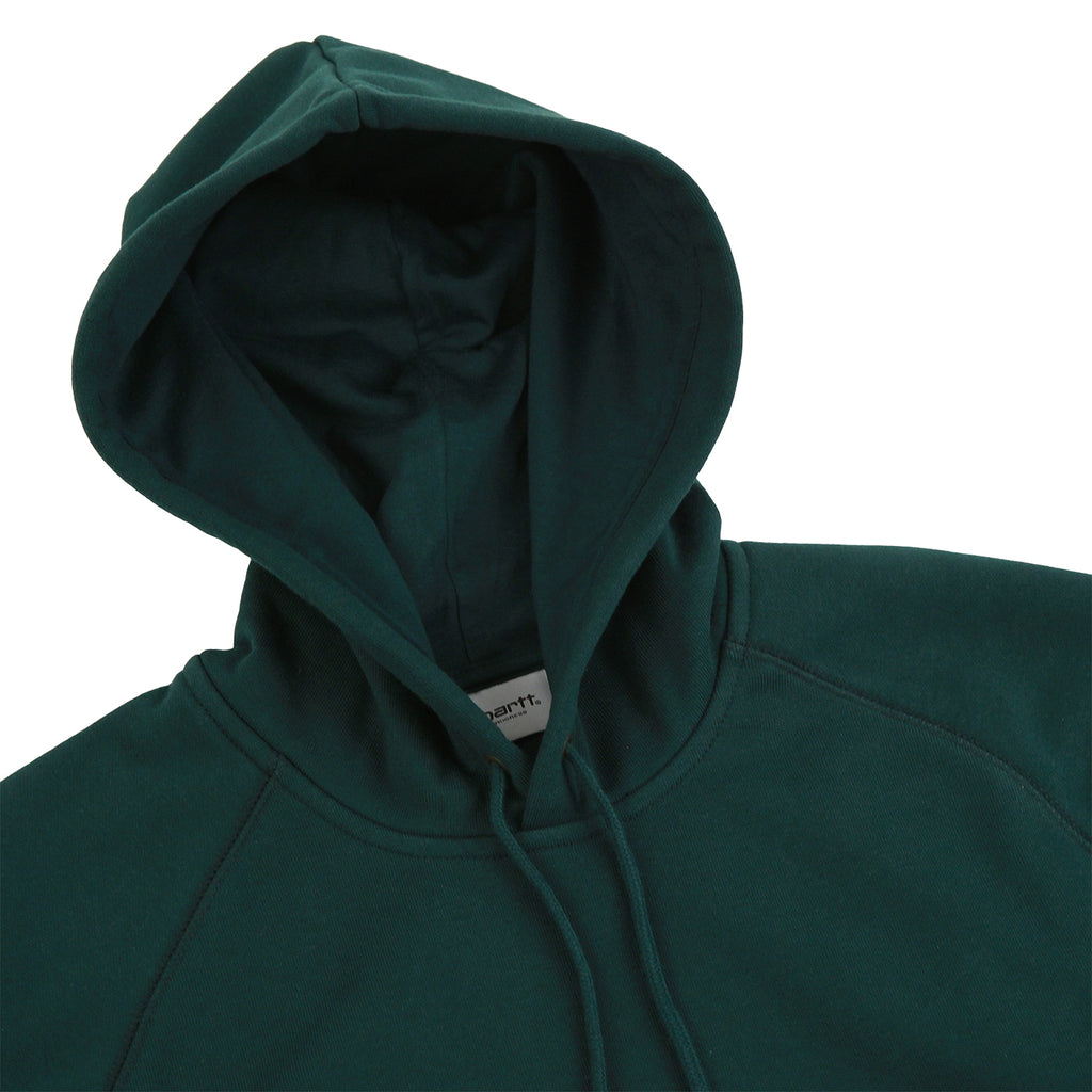 Carhartt Hooded Chase Sweat Hoodie in Parsley / Gold - Detail