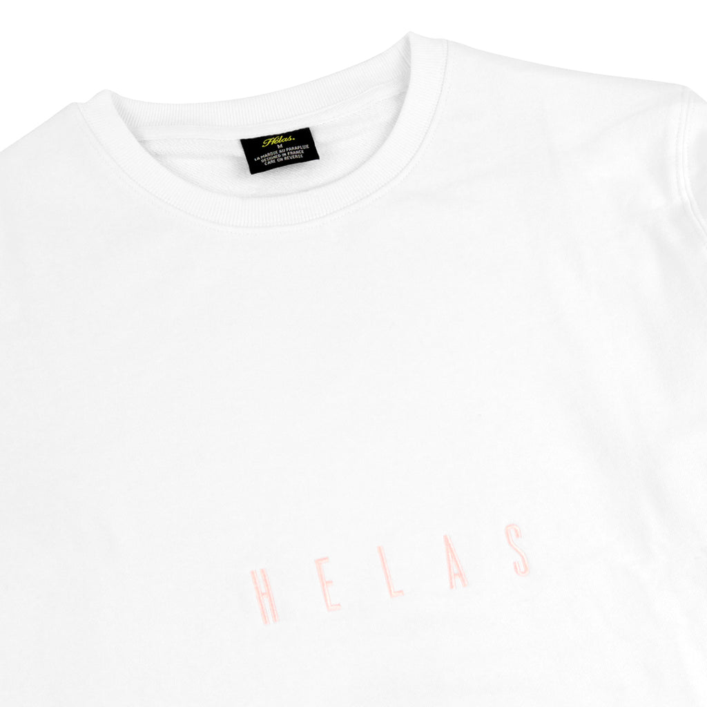 Helas Crewneck in White - Detail