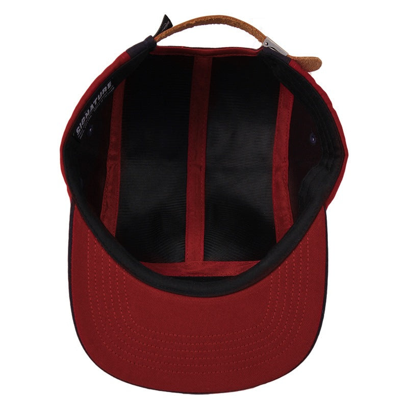 Signature Clothing Primitus 5 Panel Cap in Navy / Blood Red - Inside