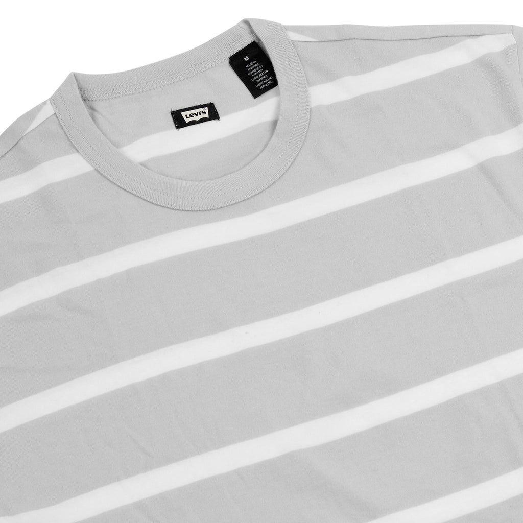 Levi's Skateboarding Collection 2 Pack T Shirt in Black / Glacier Grey Stripe - Stripes