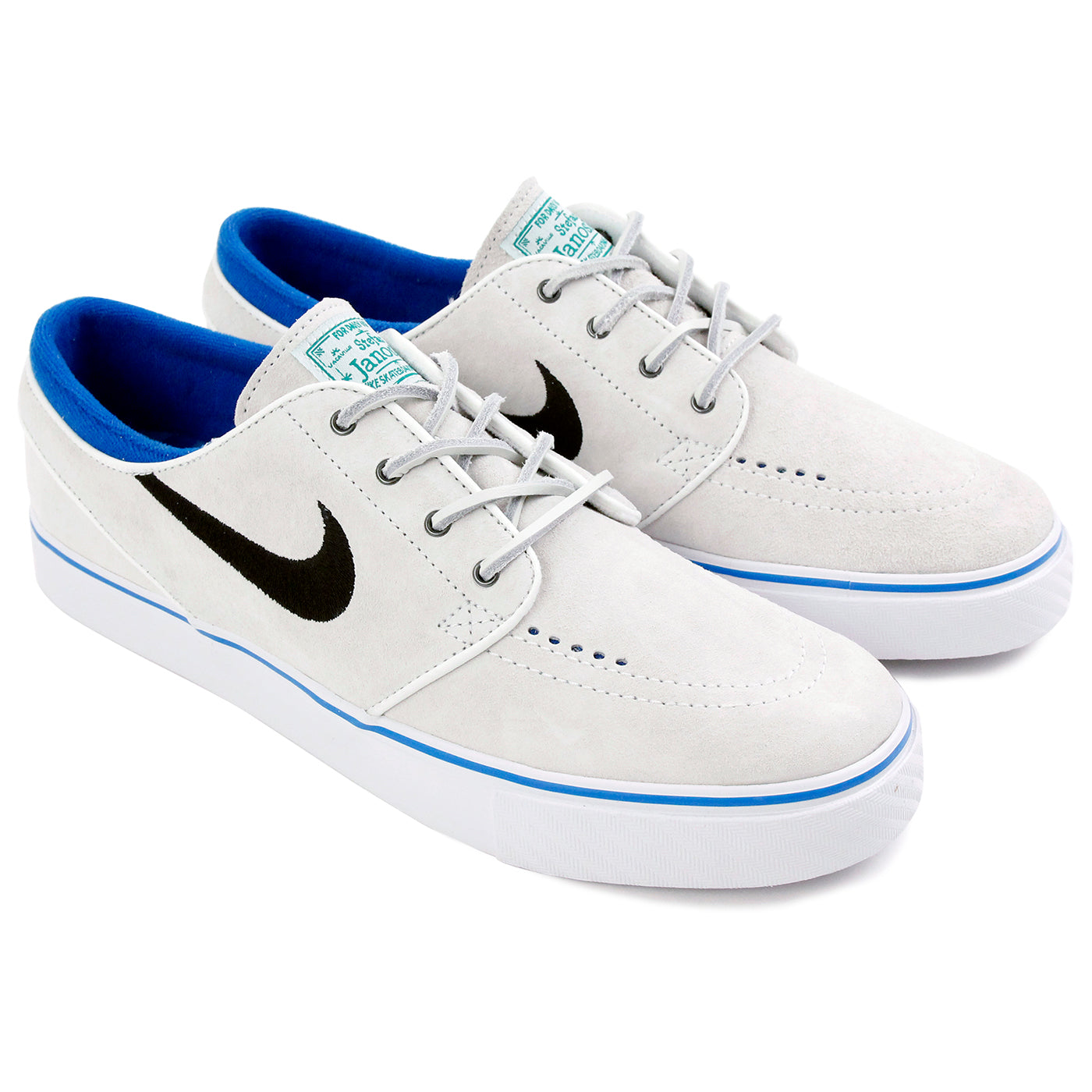 a1ae457587ef Stefan Janoski Shoes QS in Summit White   Black - Lucid Green by ...