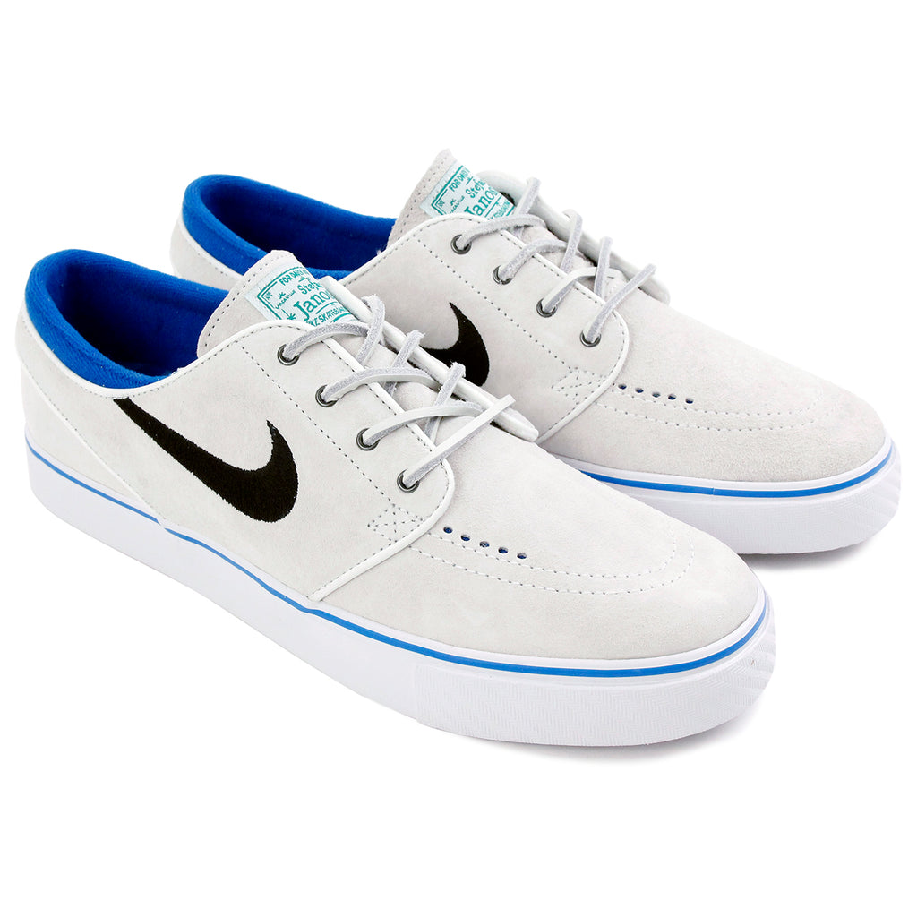 Nike SB Stefan Janoski Shoes QS - Summit White / Black - Lucid Green - Pair
