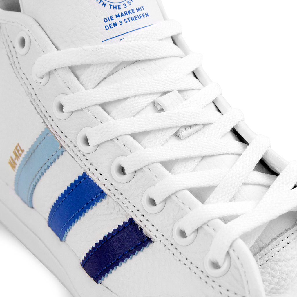 Adidas Matchcourt Mid Na-Kel Smith Shoes in White / Collegiate Royal / Bluebird - Detail